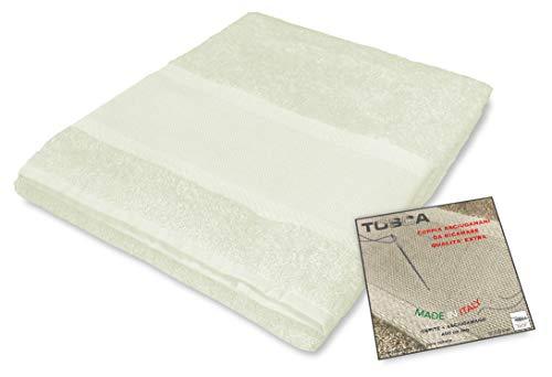 Tex family Tosca - Juego de toallas de rizo para bordar con punto de cruz 1 + 1, para cara e...