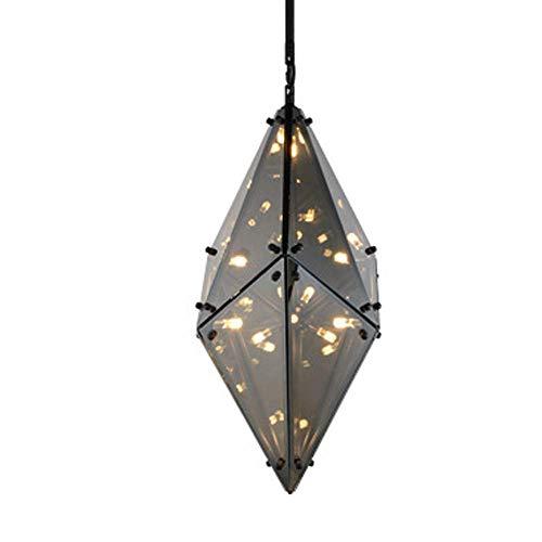 CSD Luz pendiente posmoderna nórdica creativo de la lámpara de cristal Pantalla de 8 luces G4 Base Isla de cocina Dormitorio Lámpara colgante ajustable en altura (Size : Smokgrey)