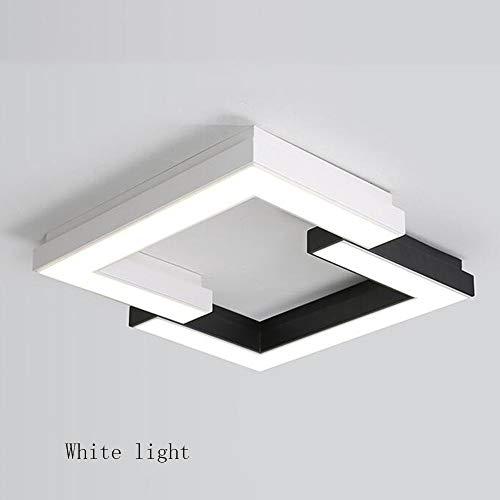 Onbekend PU-plafondlamp - vierkante zwart-wit combinatie van ijzeren lampen lichaam acrylschaduw creatieve geometrie-eenvoudige moderne ruimtelampen - energiebesparend