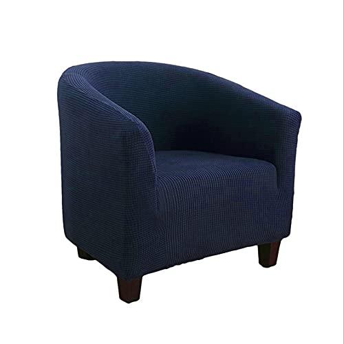 Funda para Silla Duradera de Forro Polar de 95x90x75cm, Funda para Silla con Respaldo de Oreja, Funda Azul Pavo Real para sillones con Respaldo de Oreja