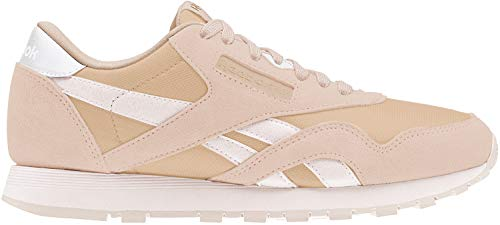Reebok Damen Classic Leather Nylon Fitnessschuhe, Mehrfarbig (Seasonal/Bare Beige/Pale Pink 000), 37.5 EU