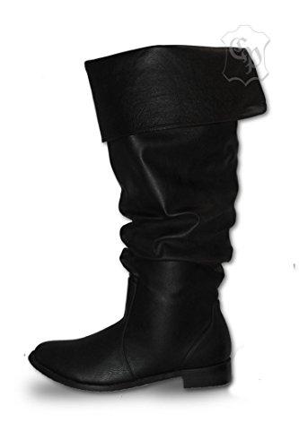 CP-Schuhe Mittelalter Schuhe Stiefel Piratenstiefel Käptn Rotbart (45)