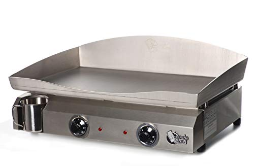 Plancha Tonio - Plancha Electica 6 à 12 personnes - Electrique 220-230 V - Plaque de cuisson inox 4 mm – Caisson Inox – 3000 W Thermostat de sécurité Voyant de chauffe – Fabrication 100 % Française