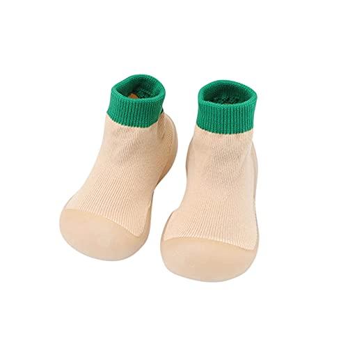Indoor Atmungsaktive Baby Schuhe 6-12monate Mädchen Kleinkind Schuhe Junge Lauflernschuhe Rutschfest Krabbelschuhe Weichen Sohle Babyschuhe Stricken Bodensocken