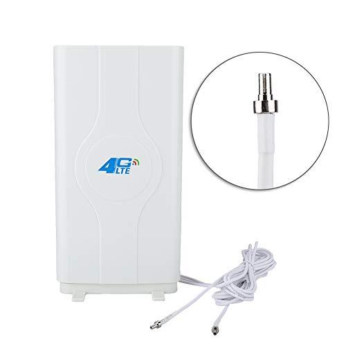 sjlerst Antena de Placa de Alta Ganancia 4G LTE 88DBi para Interiores ultrarrápida, Placa Radial de Antena de 800MHz a 2600MHz, fácil de Instalar, no Requiere Software.((CRC9))