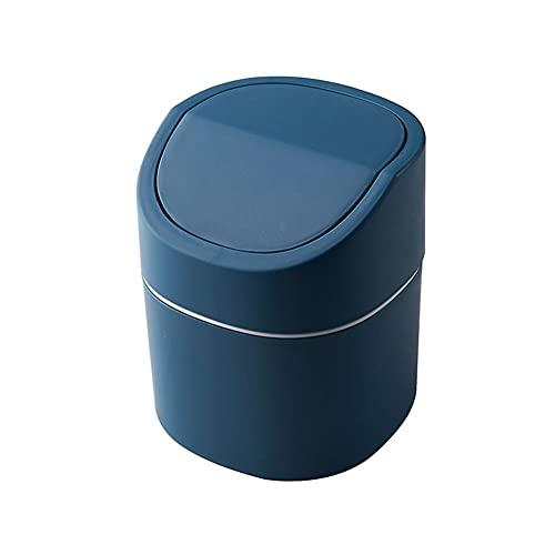 Mesa para El Hogar, Bote De Basura De Plástico, Suministros De Oficina, Artículos Diversos, Cubo, Caja, Hogar (Color : Blue, Size : 13 * 16 cm)