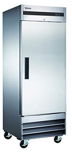 Ft 6 Adjustable Shelves Digital Control 45 Cu - Auto Defrost 55 Freezer Double Glass Doors Stainless Steel Reach-in Commercial Grade Restaurant