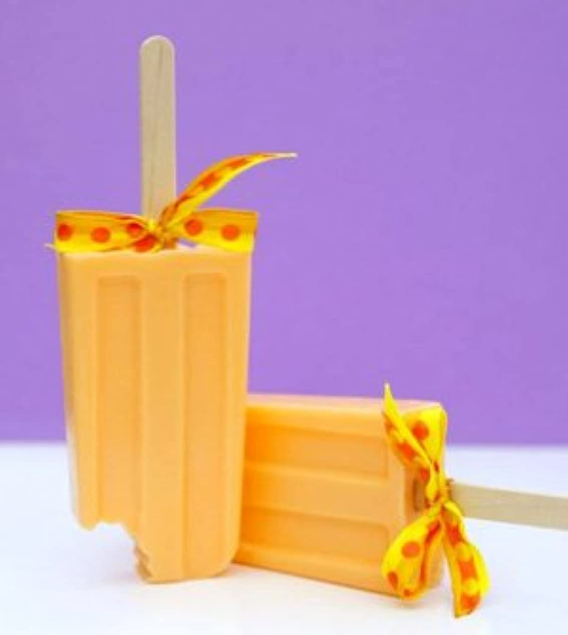 ヒップヒゲ特異なsoapy love(ソーピーラブ) Orange オレンジ セッケン ソープ ギフト プレゼント 石鹸 H14×W5×D2cm  (orange)