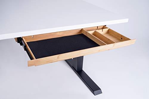 Eisnhauer® Bambus Schubladenauszug/Utensilienauszug Unterbau für Schreibtische, Ablage & Organizer, ca. 55,7 x 24,4 x 3,4 cm, aus hochwertigem Bambus