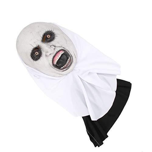 NUOBESTY - Mscara de ltex para Halloween, diseo de fantasma de miedo, boca abierta, para Halloween, terror, disfraz de cosplay