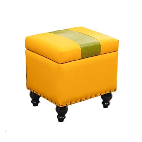 American kruk, retro-stijl, duurzaam, antislip, met deksel, multifunctionele opbergdoos, ruststoel Een