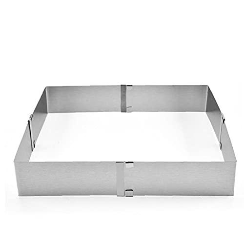 Herramienta para hornear pasteles de la torta molde de acero 1PC de la torta molde de anillo ajustable torta de mousse de anillo de acero anillo cuadrado de la torta, herramientas de la cocina