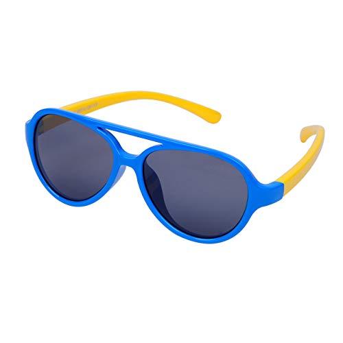 MIAO Gafas de Sol polarizadas para niños (3-8 años) Lente irrompible y Marco + Estuche