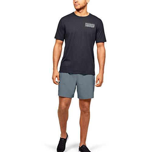 Under Armour Men's Shore Break Volley Boardshort, Hushed Turquoise (396)/Black, X-Large