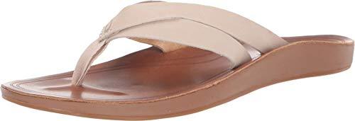 OLUKAI Women's Kaekae Sandals, Tapa/Tapa, 9 M US