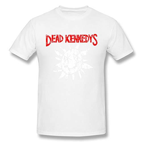 Dead Kennedys Men's Basic Short Sleeve T-Shirt Fashion Printed Casual Short Sleeve Cotton White M