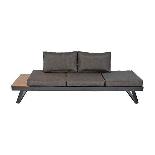 Gartensofa 3-Sitzer mit Ablage - klappbar - Sofa Turin