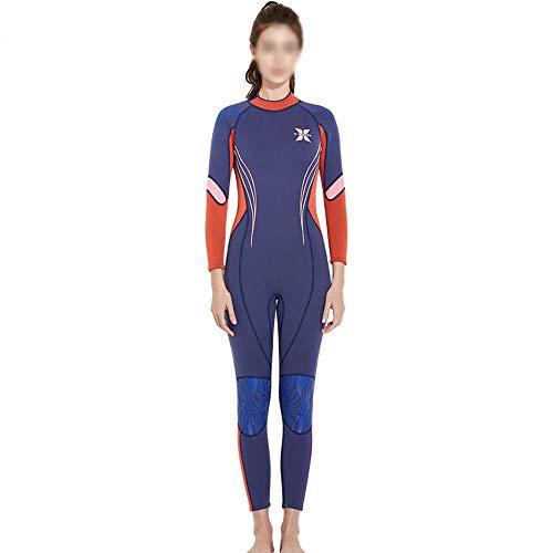ZXLIFE@@ 3mm duikpak voor dames, premium anti-uv-neopreen, neopreen surfpak, voor het hele lichaam, voor Scuba snorkelen surfen zwemmen kajakken Small paars/oranje