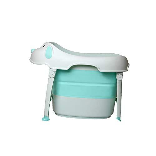 ZJZ kinderen kinderbad, draagbaar met afneembare badkruk inklapbaar bad Puppy creatief ontwerp douchecabine Comfort baby bad, Deluxe pasgeboren tot kinderen bad (zitplaats)