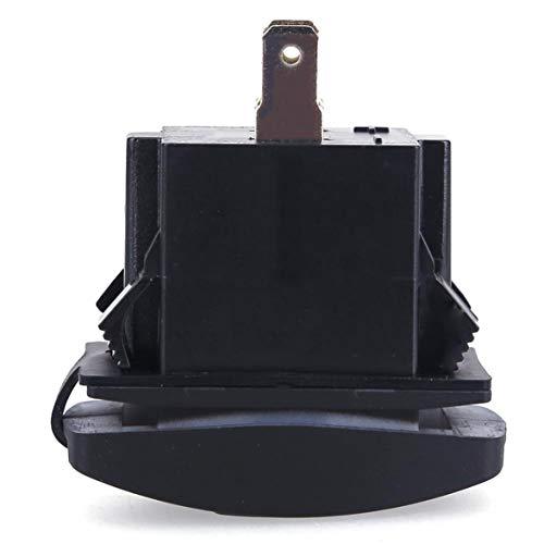Sylvialuca Enchufe del Cargador USB del Coche con luz LED Adaptador de...