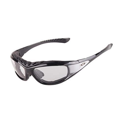 Buitenbril van polycarbonaat, gepolariseerde zonnebrillen, geschikt voor fietsen, verzorging, dag en nacht veiligheidsbril, zwart zilver