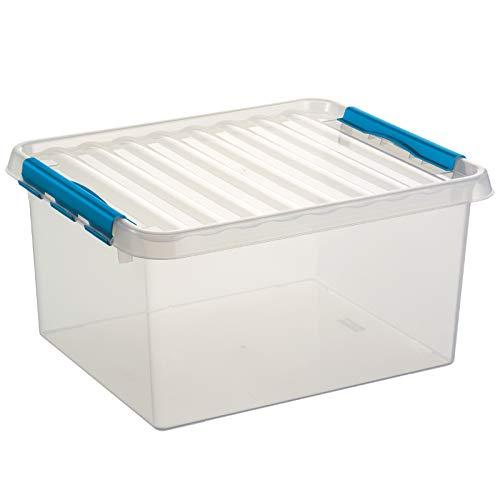 Sunware 6X Q-Line Box - 36 Liter - 500 x 400 x 260mm - transparent/blau