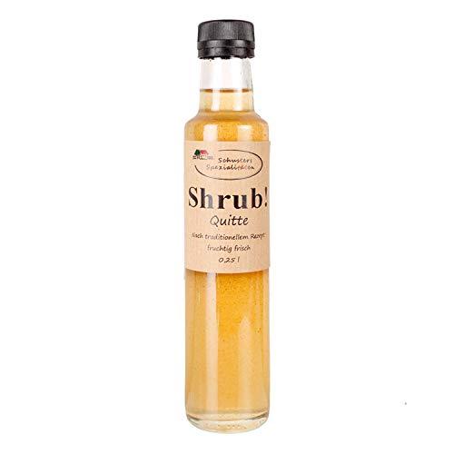 Shrub - Fruchtsirup auf Essigbasis, Quitte 0,25 ltr - Sirup - Schusters Spezialitaten GbR