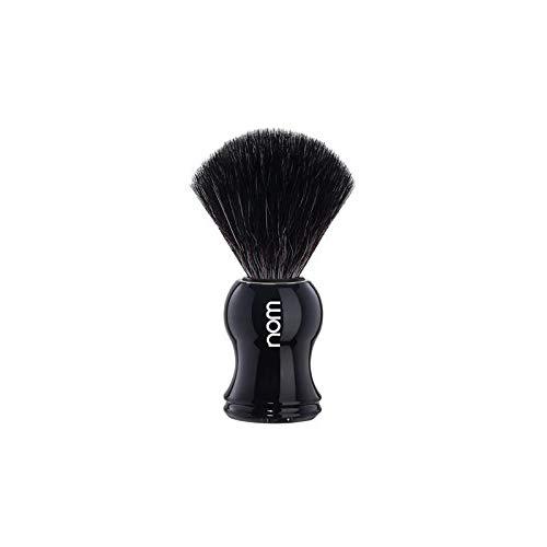 nom - Rasierpinsel - GUSTAV Serie - Synthetische Faser Black Fibre - Kunststoff schwarz