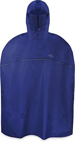 normani Outdoor Sports Kinder Regenponcho für Jungen und Mädchen mit Kapuze und 3M™ Scotchlite™ Reflektoren Farbe Navy