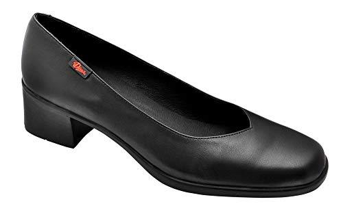 Zapato salón Mujer Uniformes en Piel Color Negro, Marca DIAN - Salon-7