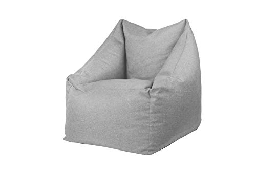 Sitzsack Sitzkissen Bodenkissen Sessel Gartenkissen mit Rückenlehne Sitz (Silber)