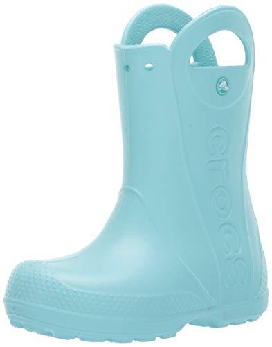 Crocs unisex child Handle It Rain Boot, Grass Green, 10 Toddler US