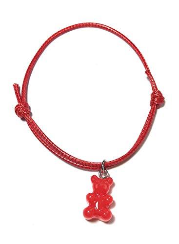 FizzyButton Gifts Red Gummy Bear Jelly Baby Adjustable Bracelet