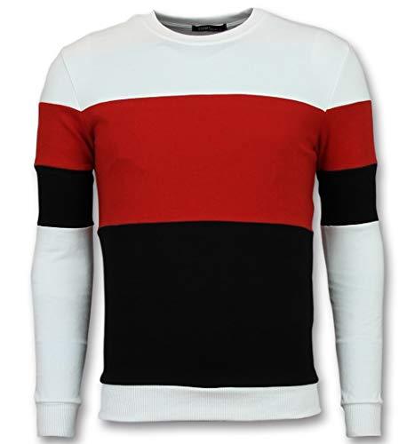 Sweater Heren - Online Streep Truien Kopen - Rood