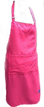 CHEFSKIN Big & Tall Apron Cool Ultra Light Comfortable Live Colors Easy Care Sizes 2X 4X 6X  Black 4X  37x40 in