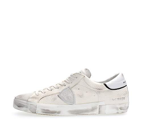 Philippe Model Herren Paris Sneaker Bianco 42 EU