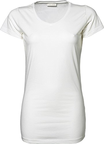 TJ455 Ladies Stretch Tee Extra Long, Farbe:WHITE;Größen:XL XL,White