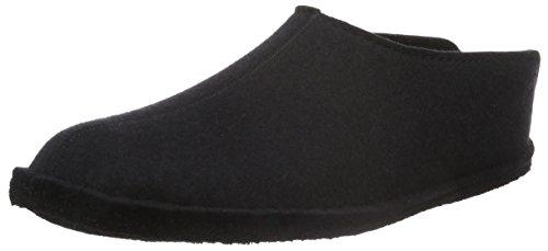 iesse-Schuh-Gmbh Haflinger Flair Smily, Pantoffeln, Unisex-Erwachsene, Filz aus reiner Wolle, Schwarz (Schwarz 03), 36 EU