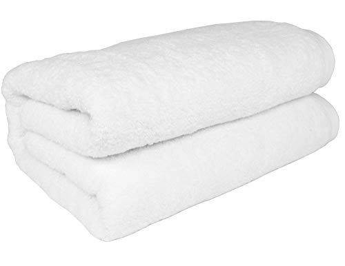 SALBAKOS Turkish Cotton Oversized Bath Sheet, 40 by 80 Inch, White