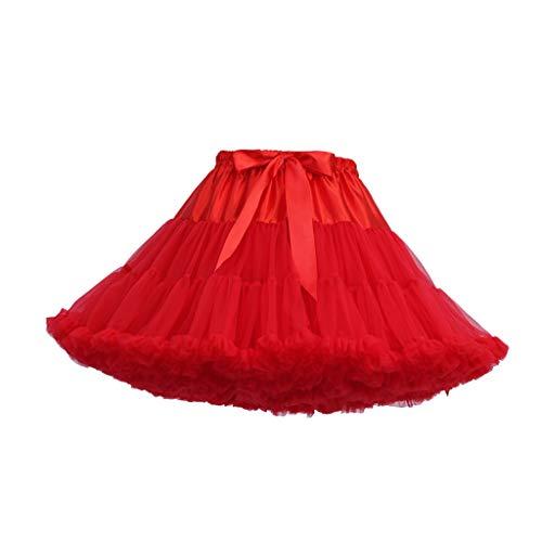 VEMOW Heißer Elegante Mädchen Karneval Mode Einfarbig Tanzparty Tanz Ballett Nette Tutu Tüll Röcke (V, Freie Größe)