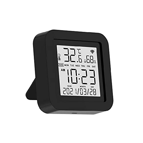 Control remoto inteligente IR con sensor de humedad de temperatura Pantalla LCD WiFi para el hogar Alexa Automation TV AC Controller Universal Smart Remote para control de TV Alexa Reemplazo