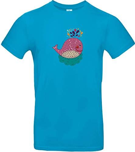 Shirtstown Maglietta Bambini con Fantastici Motivi Balena - Atollo, 140