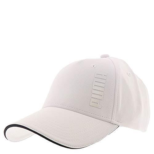 PUMA Women's Evercat Dash Adjustable Cap, White/Black, One Size