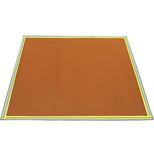 "VEVOR Fire Pit Mat,67"" x 60"" Fire Blanket, Fiberglass Welding Blanket, 3.3 lbs Fireproof Blanket, 1022°F Fire Retardant Blanket,Emergency Fire Blanket with 10 Stainless-Steel Grommets & 6 Silver Hooks"