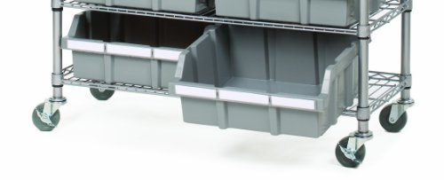 Seville Classics Extra-Large Commercial-Grade NSF (2-Pack) for Bin Rack Storage System, Gray