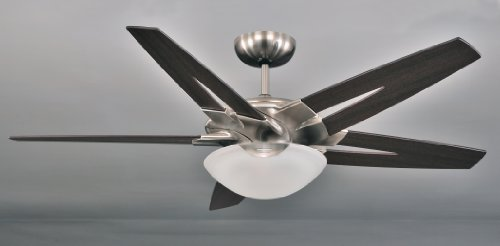 LuxVen Deckenventilator Uplight in Nickel gebürstet + Wenge