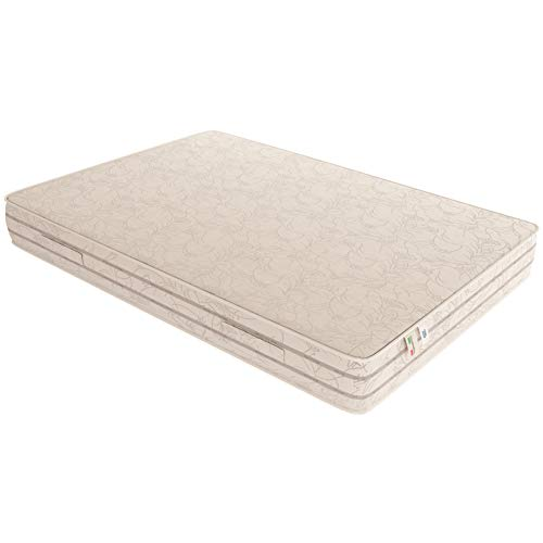 Baldiflex Easy 2.0 Memory Foam Materasso Memoria, Poliuretano, Bianco, 120 x 190 x 22 cm