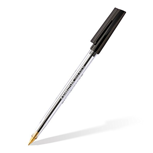 Staedtler Stick 430 M-9 Ballpoint Pen Medium - Black (Box of 10)