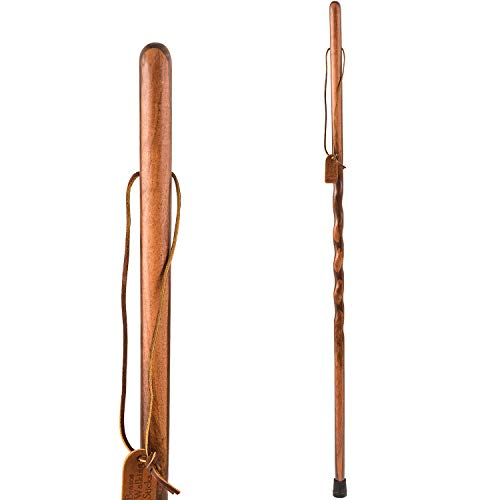 Brazos Twisted Walnut/Mesquite Walking Stick, 58 Inch, Made in the USA