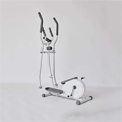 DDXY-Ellittica Cross Trainer Cyclette da Casa,Step Machine per L'allenamento Dimagrante con Monitor LCD per Esercizi Aerobici Cardio Fitness Allenamento A Casa da Ufficio al Coperto,Bianca
